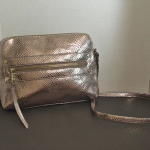 Kate Landry Metallic Gold Crossbody Shoulder Bag